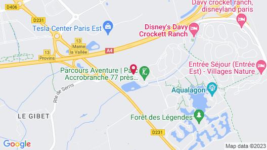Disney's Davy Crockett Ranch Map