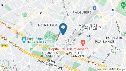 Arty Paris Porte de Versailles by River Map