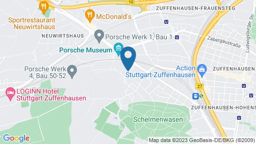 B&B Hotel Stuttgart-Zuffenhausen Map