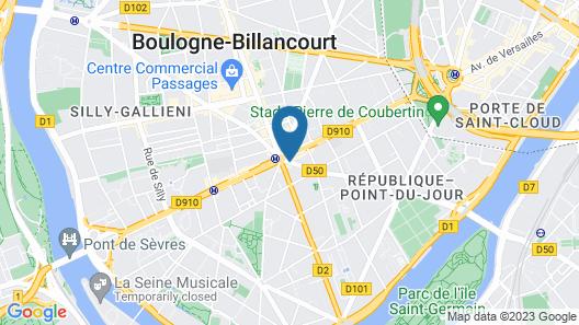 ibis Styles Paris Boulogne Marcel Sembat Map