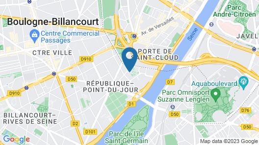Apparthotel Mercure Paris Boulogne Map