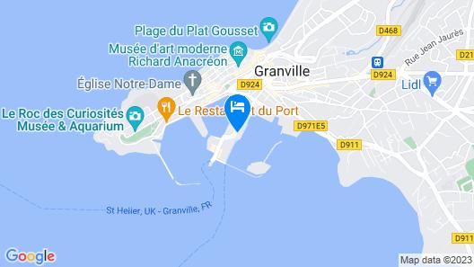 ibis Granville Port de plaisance Map