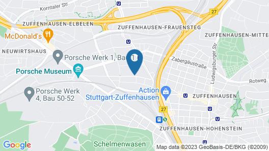 Mercure Hotel Stuttgart Zuffenhausen Map