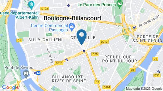 Hotel Campanile Paris Ouest - Boulogne Map