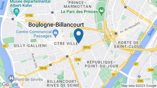 Hôtel Alpha Paris Eiffel by Patrick Hayat Map
