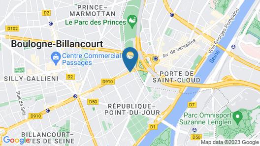 Radisson Blu Hotel, Paris Boulogne Map