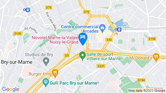 ibis Marne La Vallée Noisy Map