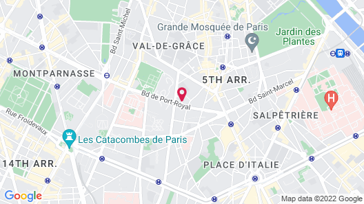 Five Boutique Hotel Paris Quartier Latin Map