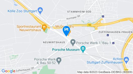 ACHAT Hotel Stuttgart Zuffenhausen Map