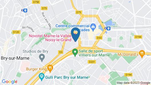 Novotel Marne La Vallee Noisy Le Grand Map