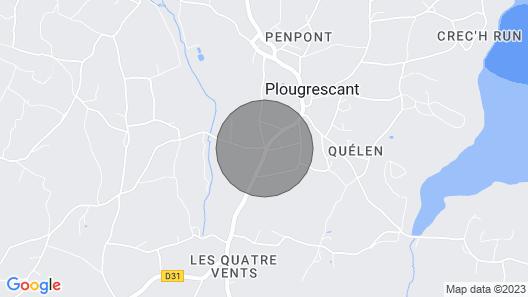 Semi-detached House, Plougrescant Map