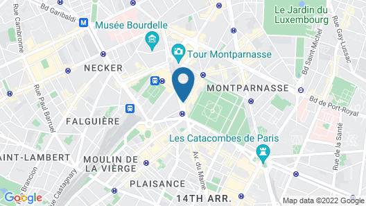 Hotel Arcadie Montparnasse Map