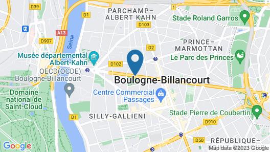 Courtyard by Marriott Paris Boulogne Map