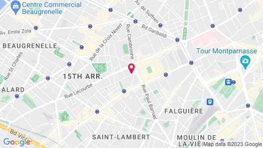 Hôtel Eiffel Blomet Map