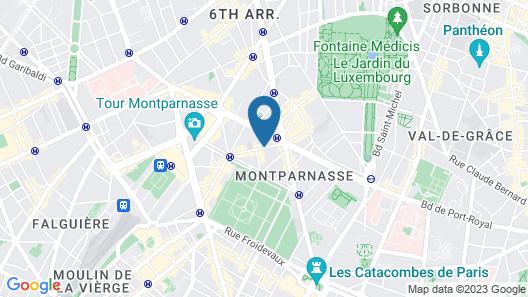 Lenox Montparnasse Hotel Map