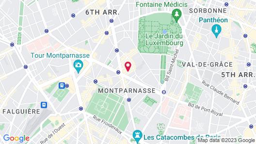 Hôtel A La Villa des Artistes Map