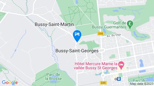 Le Petit Gite N5 de la Tour -close to Disney Land / Val D'europe / Paris Map