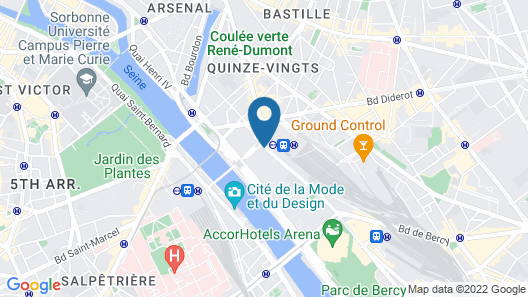 Mercure Paris Gare De Lyon TGV Map