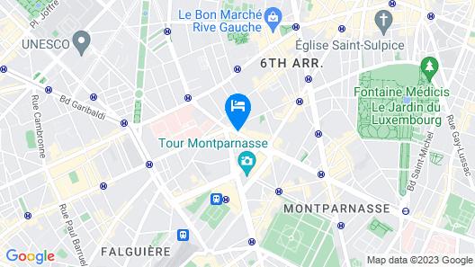 Best Western Hotel Le Montparnasse Map