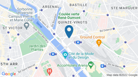 Courtyard by  Marriott Paris Gare de Lyon Map