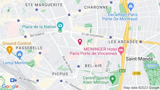 Hôtel du Printemps Map
