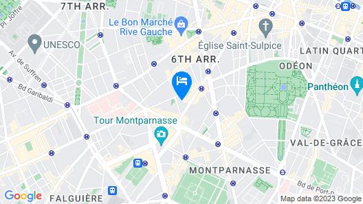 Victoria Palace Hotel Paris Map
