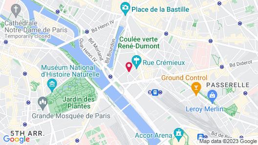 Hôtel Elysée Gare de Lyon Map