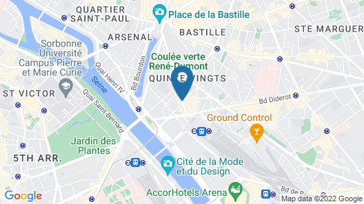 Holiday Inn Paris - Gare de Lyon Bastille Map