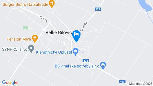 Hotel Akademie a depandance Vila Jarmila Map