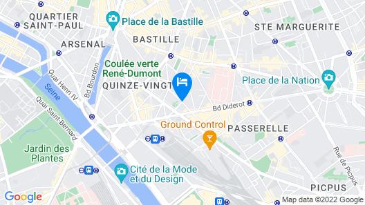 Prince Albert Lyon Bercy Map