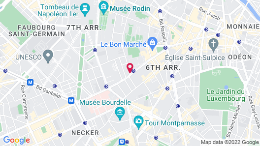 Hotel Vaneau Saint Germain Map
