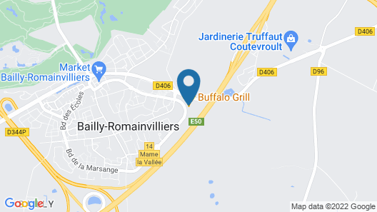 ACE Hotel Paris Marne la Vallée Map