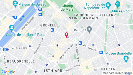 Art Hotel Eiffel Map