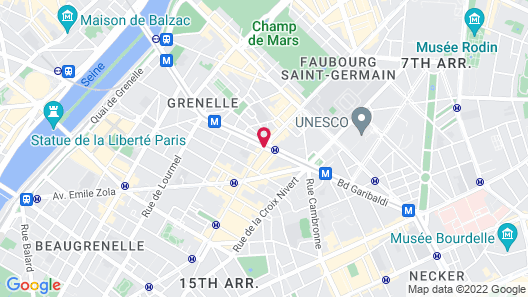 Citadines Tour Eiffel Paris Map