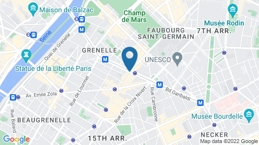 Citadines Tour Eiffel Paris Map
