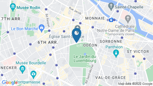 Hotel Luxembourg Parc Map