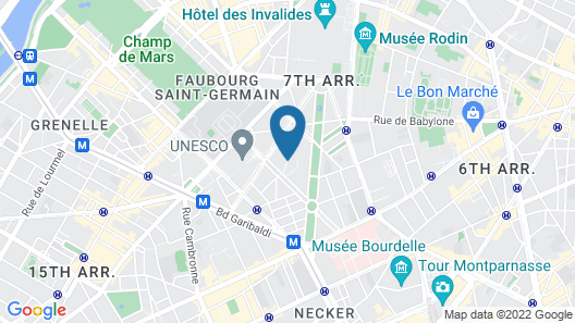 Villa Saxe Eiffel Map