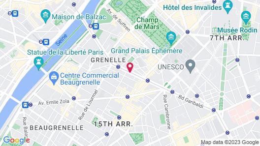 Le Parisis Paris Tour Eiffel Map