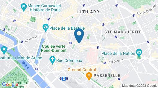 Bastille Hostel Map