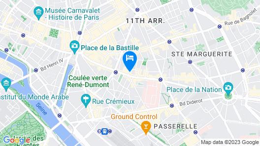 Auberge Internationale des Jeunes Map