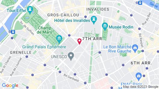 Hotel Duquesne Eiffel Map