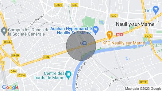 Gemütliches Studio in der Nähe von Paris und Disneyland RER A Map