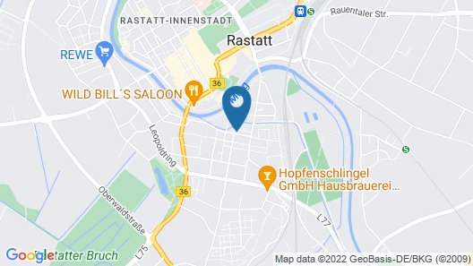 Hotel Restaurant Da Franco Map