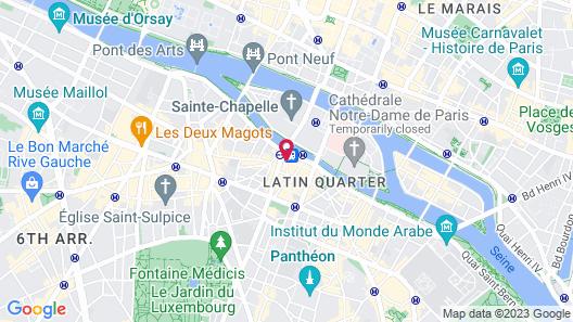 Hotel Europe Saint Severin Paris Map