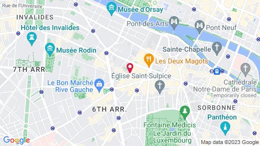 Hôtel des Saints-Pères Map