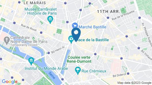 Oh La La! Hotel bar - Paris Bastille Map