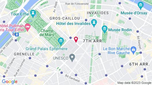 Hotel Derby Eiffel Map