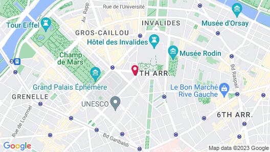 Hôtel de France Invalides Map