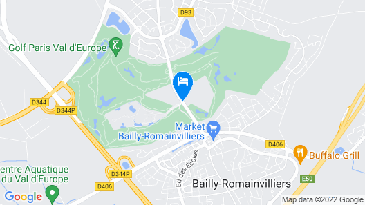 Staycity Aparthotels Marne La Vallée Map