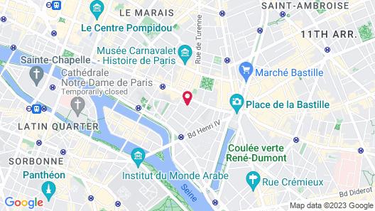 Hôtel de Neuve Le Marais by Happyculture Map